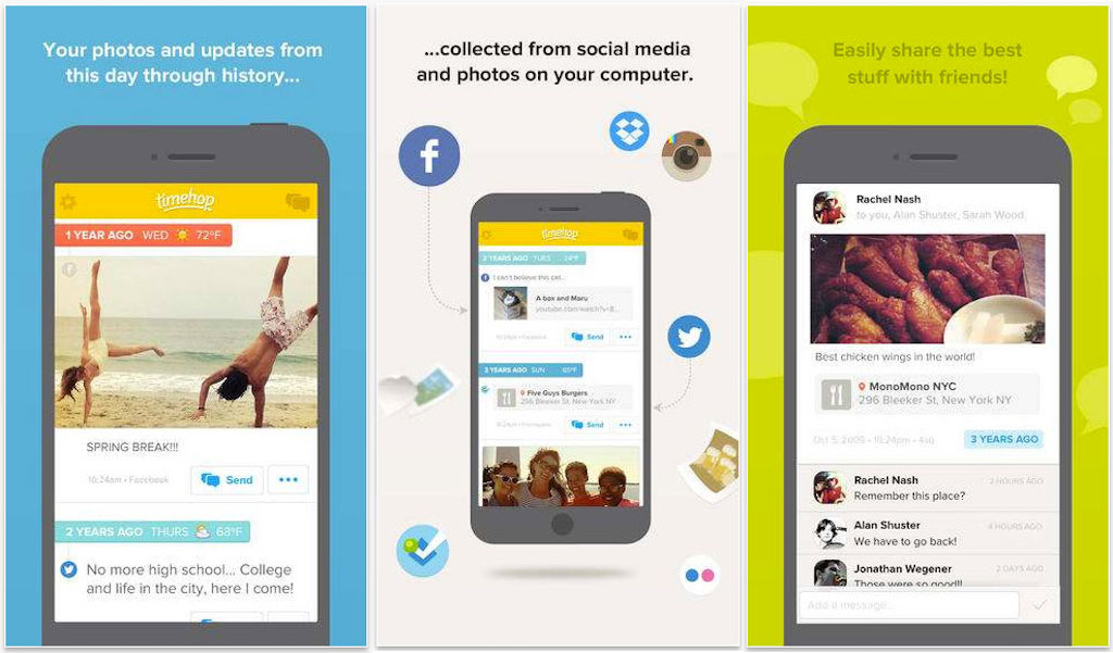 how does timehop make money - With timehop you can share memories from Facebook, instagram, twitter, dropbox