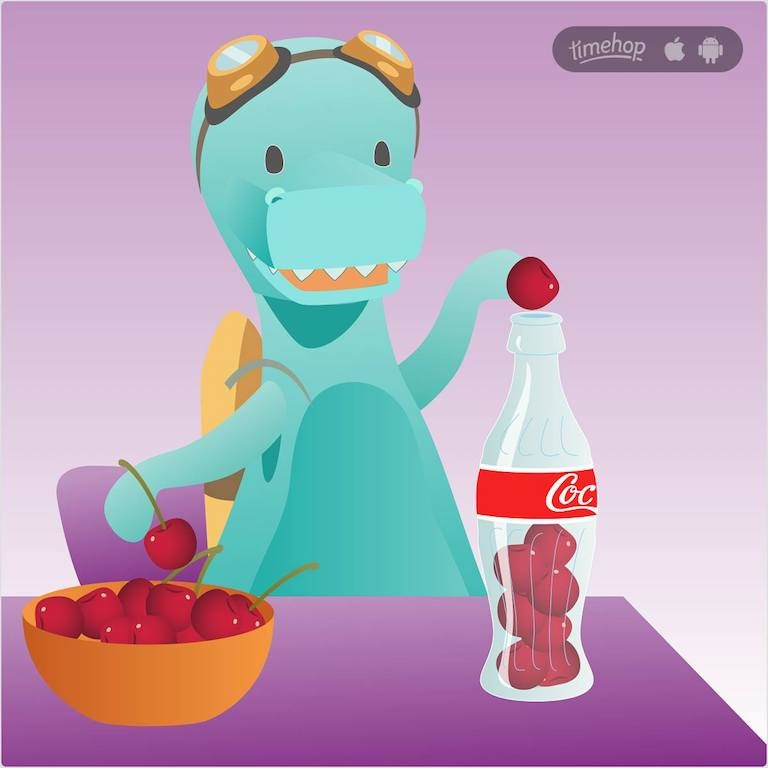 how does timehop make money timehop advertises for cherry coca cola