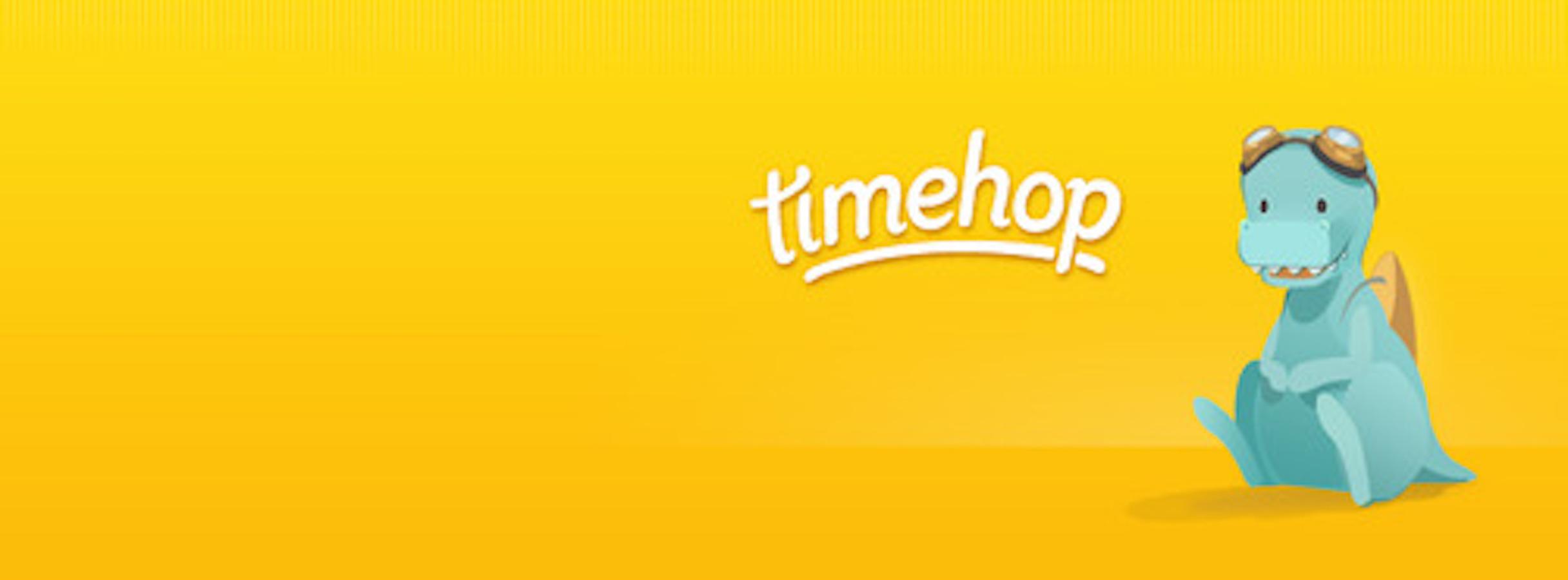 how does timehop make money timehop dinosaur banner